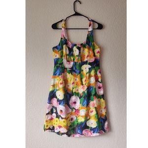 J.Crew Floral Silk Dress